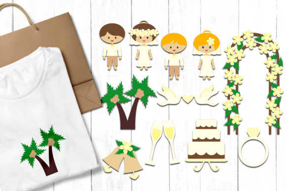 Print on Demand: Wedding Hawaii Graphic Illustrations By Revidevi