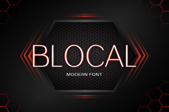Print on Demand: Blocal Sans Serif Font By maxim.90.ivanov