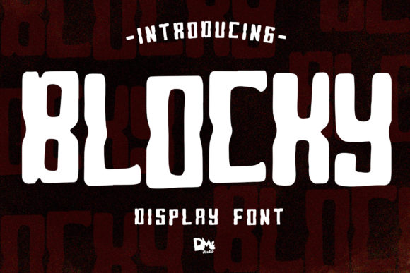 Blocky Display Font By dmletter31