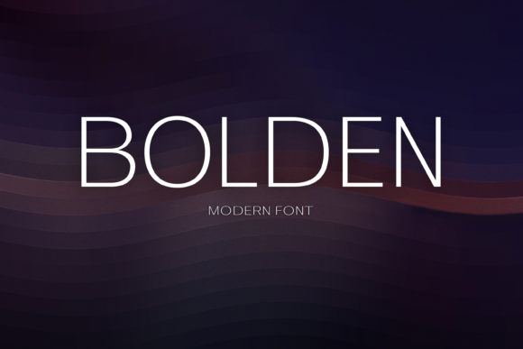 Print on Demand: Bolden Sans Serif Font By maxim.90.ivanov