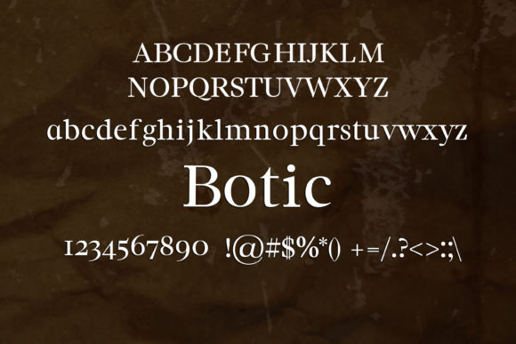 Print on Demand: Botic Serif Font By maxim.90.ivanov - Image 2