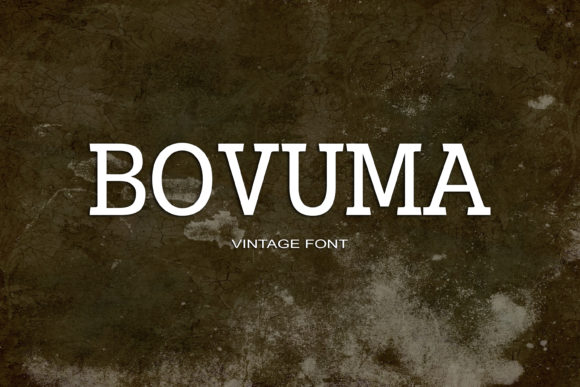 Print on Demand: Bovuma Serif Font By maxim.90.ivanov