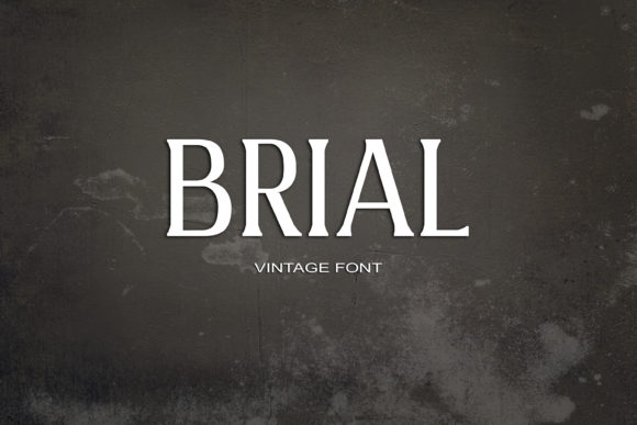 Print on Demand: Brial Serif Font By maxim.90.ivanov