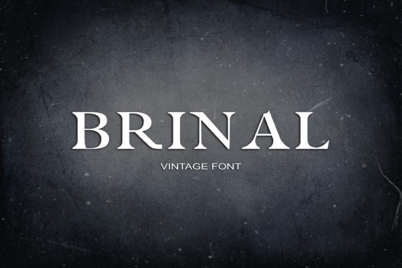 Print on Demand: Brinal Serif Font By maxim.90.ivanov