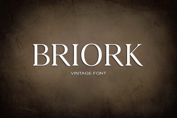 Print on Demand: Briork Serif Font By maxim.90.ivanov