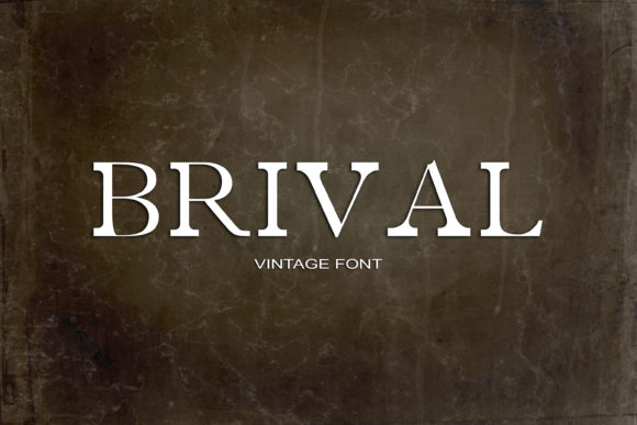Print on Demand: Brival Serif Font By maxim.90.ivanov