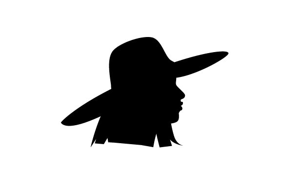 Download Free Cameo Of Woman In Large Sun Hat Svg Cut File By Creative Fabrica for Cricut Explore, Silhouette and other cutting machines.