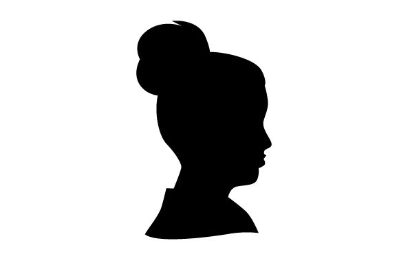 Download Free Cameo Of Woman With Collared Shirt Svg Cut File By Creative for Cricut Explore, Silhouette and other cutting machines.