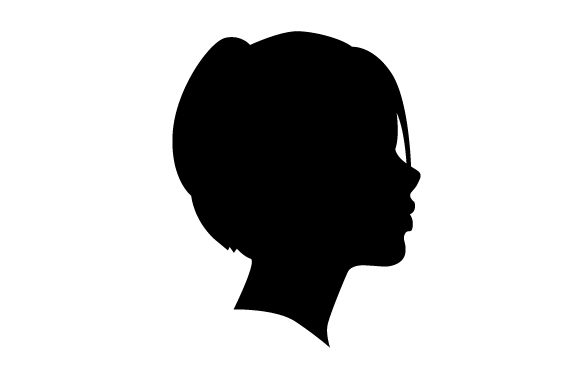 Cameo Of Woman With Short Hair Cut Svg Cut File By Creative
