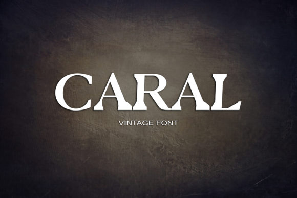Print on Demand: Caral Serif Font By maxim.90.ivanov