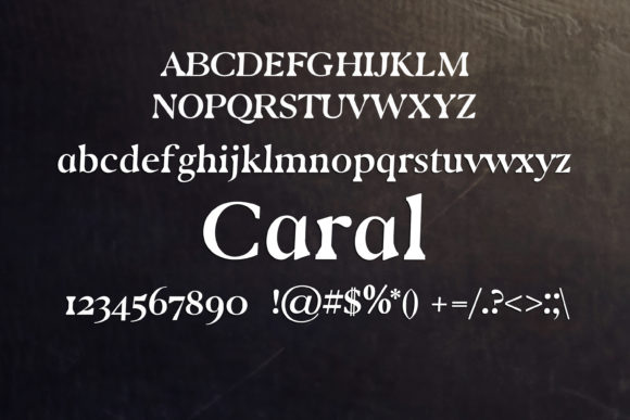 Print on Demand: Caral Serif Font By maxim.90.ivanov - Image 2