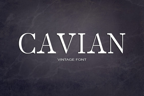 Print on Demand: Cavian Serif Font By maxim.90.ivanov - Image 1