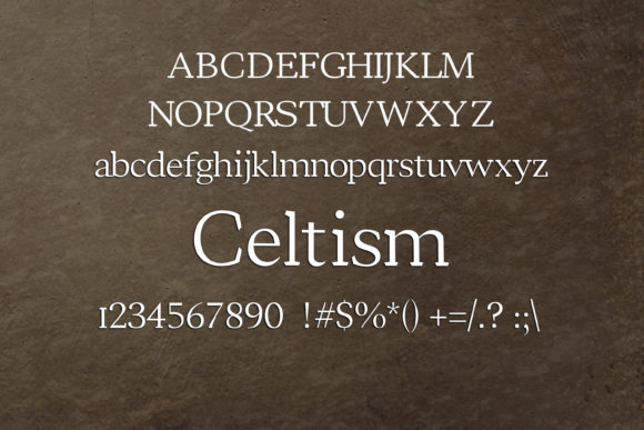 Print on Demand: Celtism Serif Font By maxim.90.ivanov - Image 2