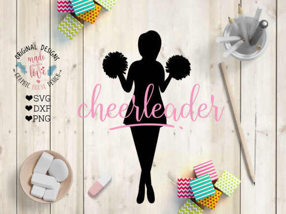 Cheerleader Silhouette Graphic Crafts By GraphicHouseDesign
