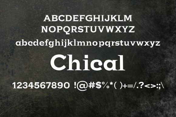 Print on Demand: Chical Serif Font By maxim.90.ivanov - Image 2