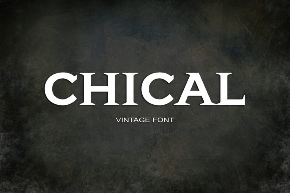 Print on Demand: Chical Serif Font By maxim.90.ivanov