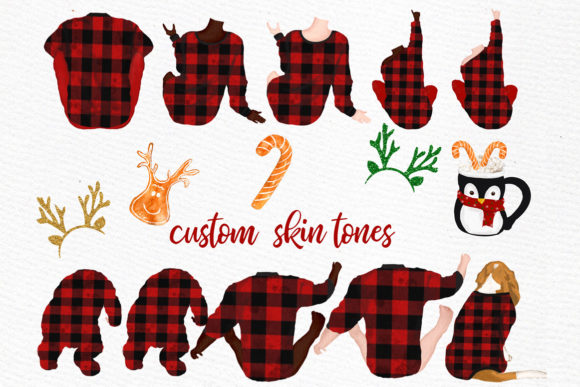 Christmas Family Clipart Graphic Illustrations By LeCoqDesign - Image 2
