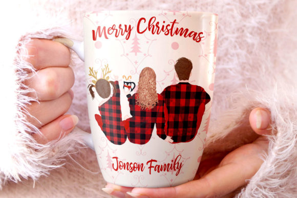 Christmas Family Clipart Graphic By LeCoqDesign Image 4