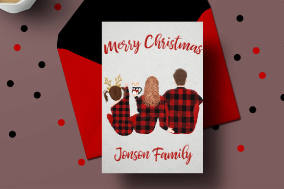 Christmas Family Clipart Graphic By LeCoqDesign Image 7