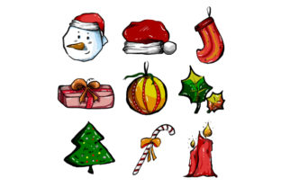 Download Free Christmas Icons Graphic By Pointzero Graphic Creative Fabrica for Cricut Explore, Silhouette and other cutting machines.