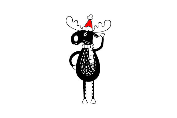 Christmas Black Moose Christmas Craft Cut File By Creative Fabrica Crafts - Image 1
