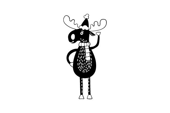 Christmas Black Moose Christmas Craft Cut File By Creative Fabrica Crafts - Image 2