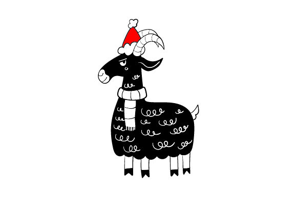 Download Free Christmas Goat Svg Cut File By Creative Fabrica Crafts for Cricut Explore, Silhouette and other cutting machines.