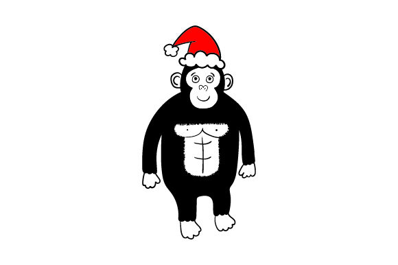 Christmas Gorilla Christmas Craft Cut File By Creative Fabrica Crafts