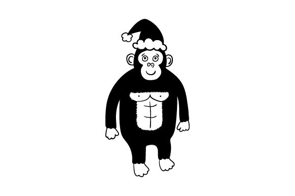 Download Free Christmas Gorilla Svg Cut File By Creative Fabrica Crafts for Cricut Explore, Silhouette and other cutting machines.