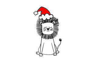 Christmas Lion Craft Design By Creative Fabrica Crafts