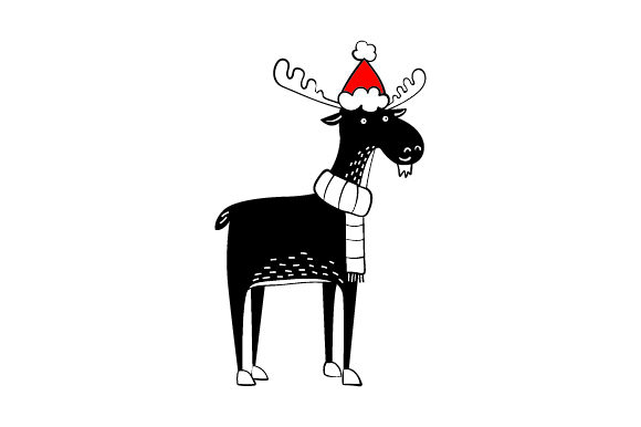 Christmas Moose Navidad Craft Cut File Por Creative Fabrica Crafts