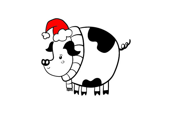 Download Free Christmas Pig Svg Cut File By Creative Fabrica Crafts Creative for Cricut Explore, Silhouette and other cutting machines.