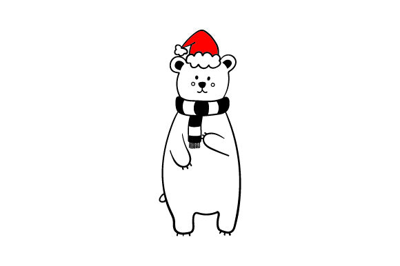 Christmas Polar Bear Christmas Craft Cut File By Creative Fabrica Crafts