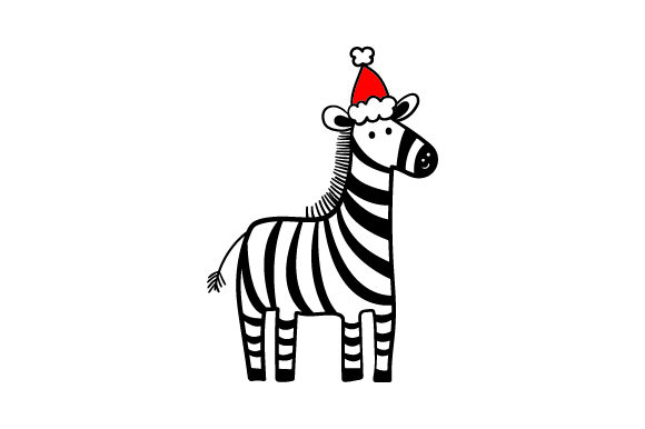 Christmas Zebra Christmas Craft Cut File By Creative Fabrica Crafts