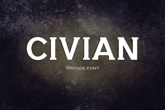 Print on Demand: Civian Serif Font By maxim.90.ivanov - Image 1