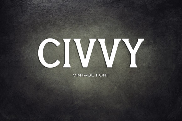 Print on Demand: Civvy Serif Font By maxim.90.ivanov
