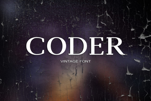 Print on Demand: Coder Serif Font By maxim.90.ivanov