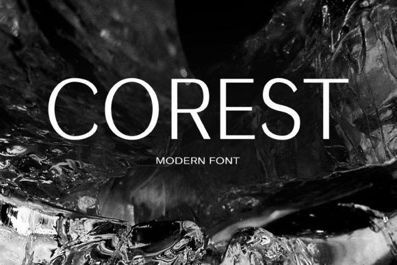Print on Demand: Corest Sans Serif Font By maxim.90.ivanov