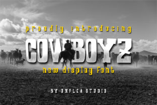 Download Free Cowboyz Font By Unflea Studio Creative Fabrica for Cricut Explore, Silhouette and other cutting machines.