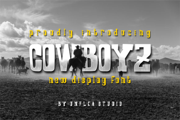 Print on Demand: Cowboyz Display Font By Unflea Studio - Image 1