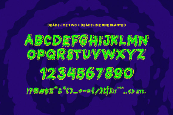 Print on Demand: Dead Slime Display Font By 160 Studio - Image 5