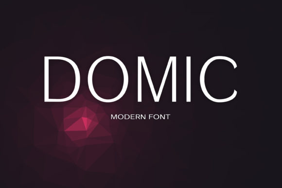 Print on Demand: Domic Sans Serif Font By maxim.90.ivanov - Image 1
