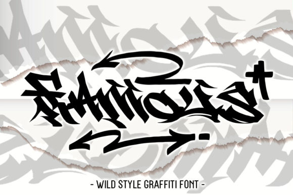 Print on Demand: East Coast Wild Style Blackletter Font By fluffyartstudio - Image 2