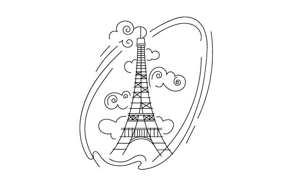 Eiffel Tower in Abstact Print Art Style France Craft Cut File By Creative Fabrica Crafts - Image 2