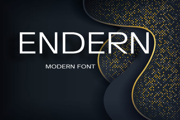 Print on Demand: Endern Sans Serif Font By maxim.90.ivanov