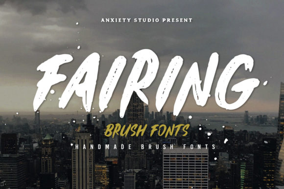 Print on Demand: Fairing Display Font By lickermelody