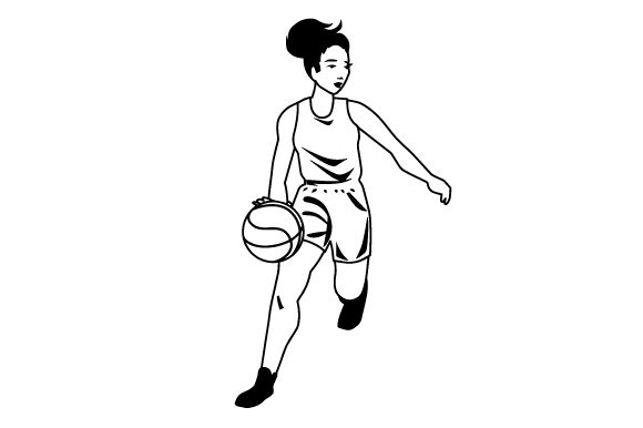 Download Free Female Basketball Dribbling Svg Cut File By Creative Fabrica for Cricut Explore, Silhouette and other cutting machines.