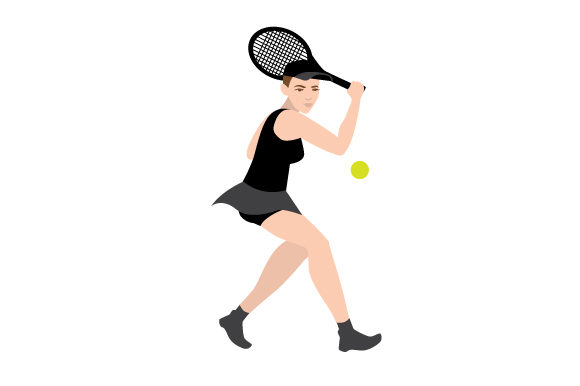 Female Tennis Backhand Swing Sports Craft Cut File By Creative Fabrica Crafts