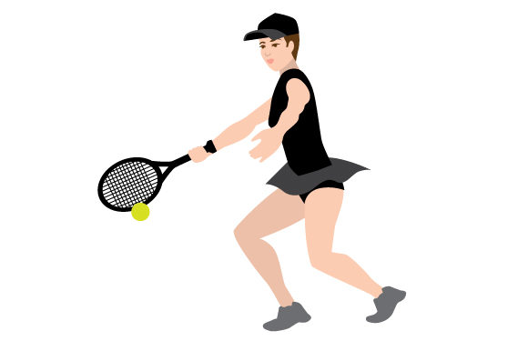 Download Free Female Tennis Forehand Swing Svg Cut File By Creative Fabrica for Cricut Explore, Silhouette and other cutting machines.