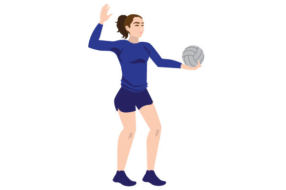 Download Free Female Volleyball Serve Svg Cut File By Creative Fabrica Crafts SVG Cut Files